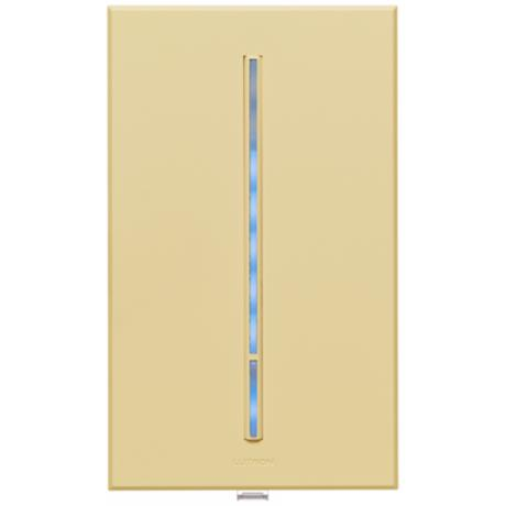 Lutron Vierti Blue LED 600 Watt Single Pole Ivory Dimmer