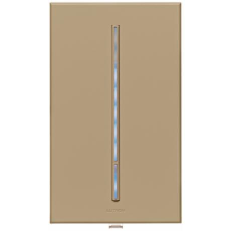 Lutron Vierti Blue LED 600 Watt Single Pole Taupe Dimmer