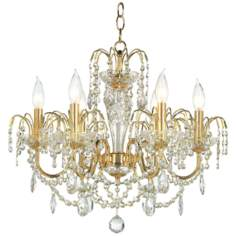 James R. Moder Belair Six Light Crystal Chandelier