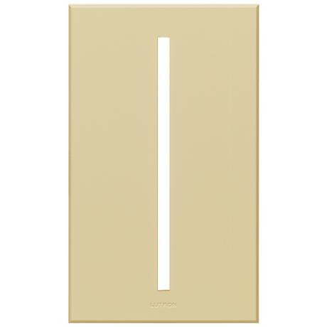 Lutron Vierti Almond Single Gang Screwless Faceplate
