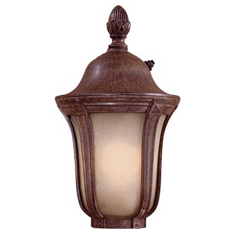 "Ardmore  13"" High Vintage Rust Outdoor Lantern"