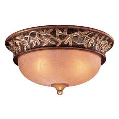 "Jessica McClintock Grand 15 1/2"" Wide Walnut Ceiling Light"