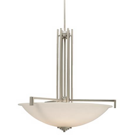 Brushed Nickel Pendant Chandelier