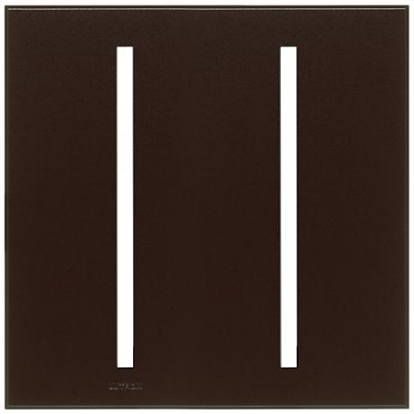 Lutron Vierti Brown Two Gang Screwless Faceplate