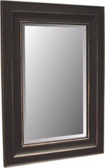 "Bar Harbour Distressed Black Finish 46"" High Wall Mirror (06390) 06390"