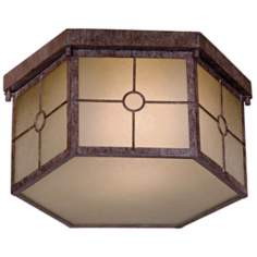 Taylor Vintage Rust Fluorescent  Outdoor Lighting Fixture