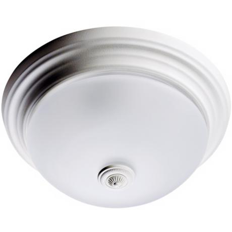 Hunter Satin White Ashbury Bathroom Fan Light