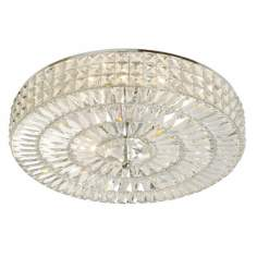 "Crystal Basket 18"" Wide Ceiling Light Fixture"
