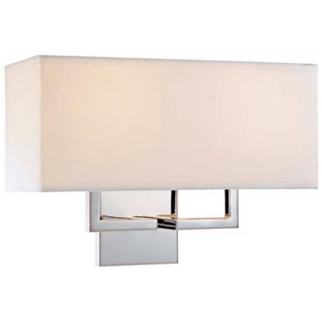 "George Kovacs Rectangle Chrome 11"" High 2- Light Wall Sconce"