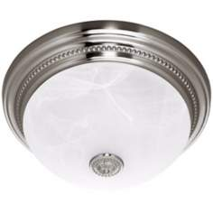 Hunter Brushed Nickel Ashbury Bathroom Fan Light