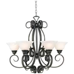 "Manchester Collection Iron 28"" Wide  Chandelier"