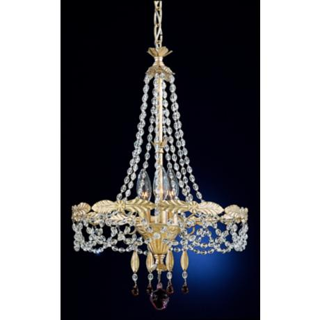 Schonbek Adagio Collection Three Light Crystal Chandelier
