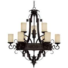 Capital River Crest Rustic Iron 9-Light Chandelier