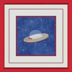 "Outerspace B 15"" Square Wall Art"