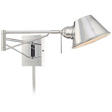 George Kovacs Chrome Plug-In Swing Arm Wall Light