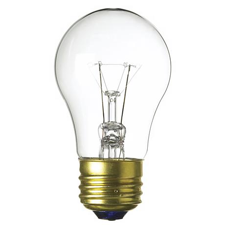 A-15 Two Pack 25-Watt Clear Fan  Bulbs