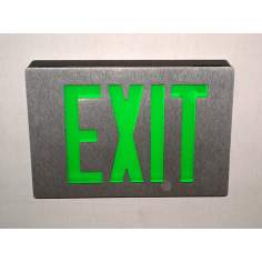 Black with Green Exit Sign From Lithonia
