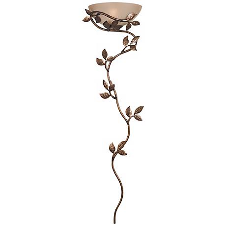 "Kenroy Home 53"" High Flower and Vine Wallchiere Light"