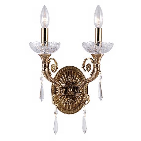 Seville Collection Aged Brass Two Light Wall Sconce