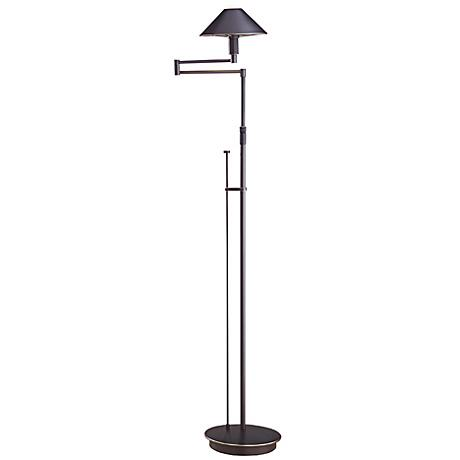 Holtkoetter Bronze Metal Shade Swing Arm Floor Lamp