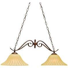 Tannery Bronze Two Light Island Style Chandelier