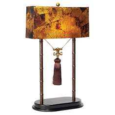 Maitland-Smith Faux Tortoise Pen Shell Shade Table Lamp
