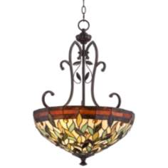 "Robert Louis Tiffany 18"" Wide Two Light Pendant Chandelier"