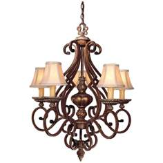 "Belcaro Collection Ornate 27"" Wide Five Light Chandelier"