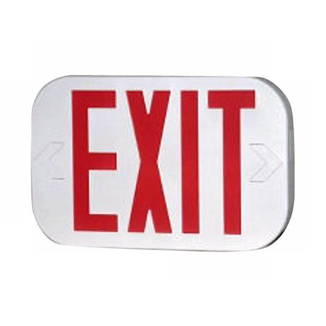 "White Finish 8"" High 2"" Wide Exit Sign"
