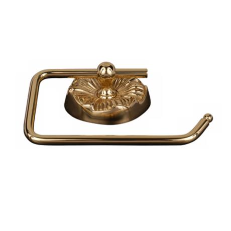 Daisy Polished Brass Euro-Style Toilet Paper Holder