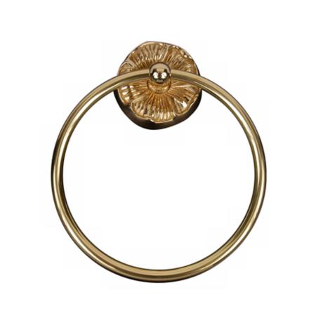 Daisy Design Polished Brass Towel Ring