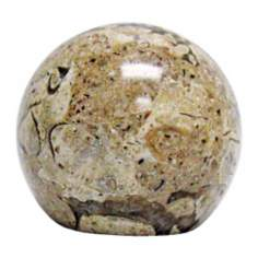 Ball Fossil Stone Finial