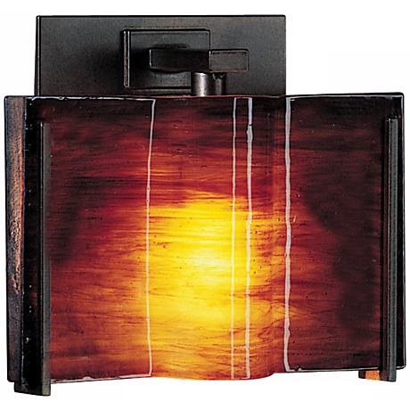 "Exos Wave Topaz Glass 6 1/2"" High Wall Sconce"