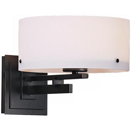 Trestle Collection Opal Glass Wall Sconce