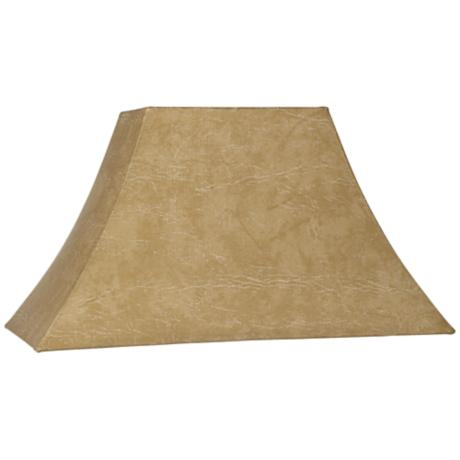 Faux Leather Lamp Shade  7.75x18x9.5 (Spider)