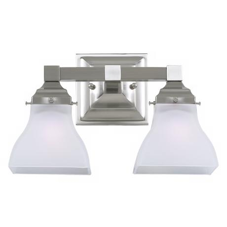 "Albany Brushed Steel 12 1/2"" Wide Bathroom Light Fixture"