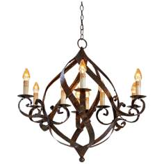 Currey and Company Gramercy 9-Light Chandelier