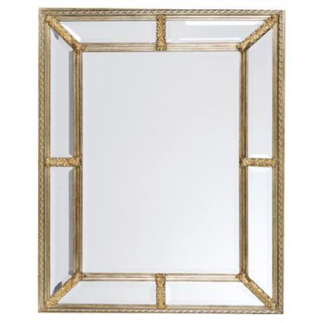 "Uttermost Silver Leaf 49"" High Wall Mirror"