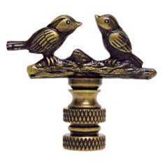 Songbirds Antique Metal Finial