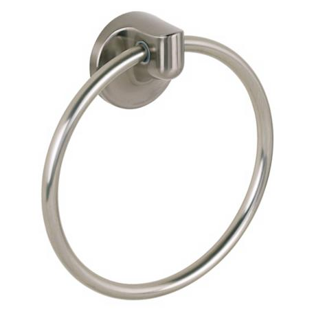 Infinity Satin Nickel Towel Ring