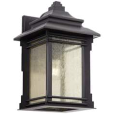 "Franklin Iron Works Hickory Point 15"" High Outdoor Light"
