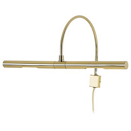 "Advent Profile 16"" Wide Polished Brass Plug-in Picture Light"