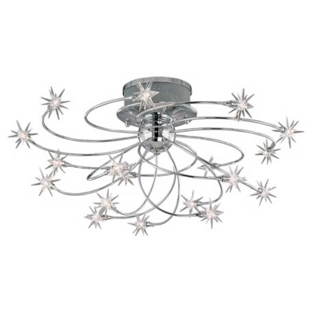 "Possini Euro Design Galaxy Chrome 28 1/4"" Wide Ceiling Light"
