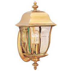 "Gladiator Collection Brass 14 3/4"" High Outdoor Wall Light"
