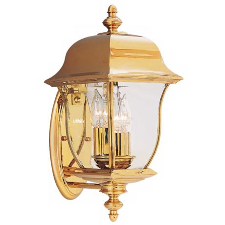 "Gladiator Collection Brass 17 1/2"" High Outdoor Wall Light"