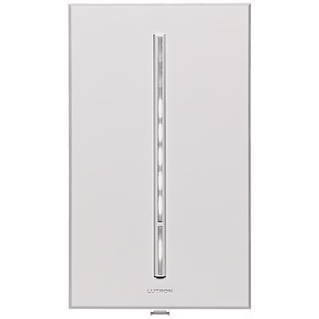 Lutron Vierti 600 Watt White LED Multilocation White Dimmer