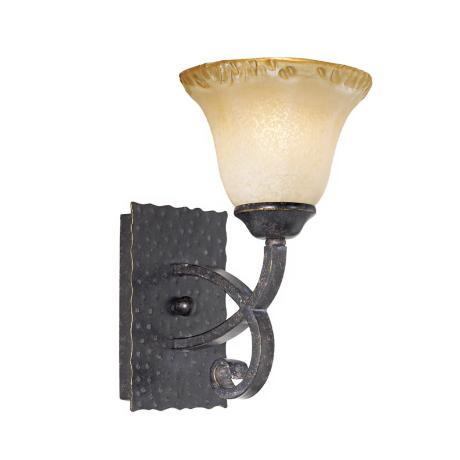 Cordelia Collection Copper Bronze and Amber Wall Sconce