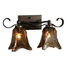 "Uttermost Vetraio Collection 17"" Wide Bathroom Light Fixture"