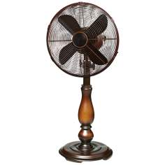 "12"" Sutter Bronze Tabletop Fan"
