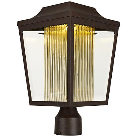 "Maxim Villa 15 1/2"" High Adobe LED Outdoor Post Light"
